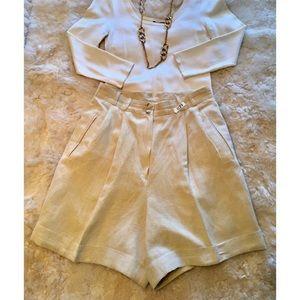 Vintage Italian linen shorts